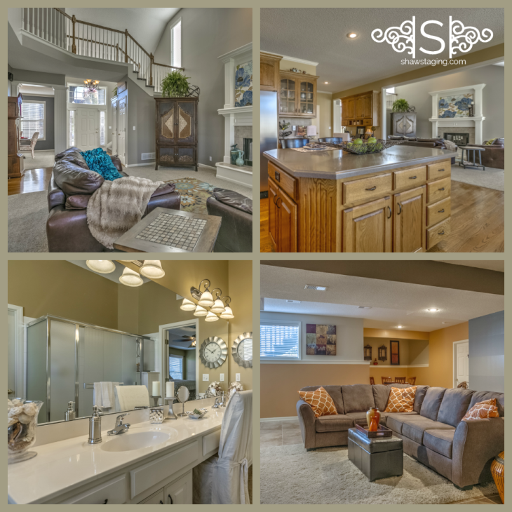 Shaw Staging Solutions staged this West Shawnee, Kansas home which sold for asking.